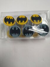 New DC Comics Batman Logo Shower Curtain Rings Hooks Set