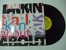 """K K – Talkin' About - Disco Mix 12"""" 45 Giri  Vinile ITALIA 1993 Euro House"""