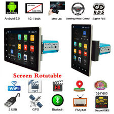 4+64GB Android 9.0 1Din 10.1in pantalla giratoria estéreo de coche GPS Radio Reproductor de MP5