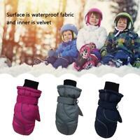 Kids Ski Snow Gloves Children Outdoor Sports Windproof Thermal Snowboard Mitten