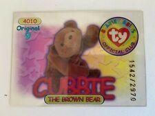 Rare Series 1 Clear - Original 9 Trading Card - Cubbie - Blue