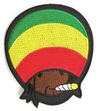 Chapeau Rasta Ecusson brodé Jamaïque Fumeur Marijuana Thermocollant Sew Applique