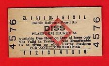 Edmondson Railway Ticket ~ BRB(E) Platform - Diss: 3d - Red Diamond: c.1980