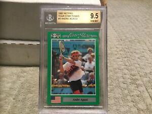ANDRE AGASSI ROOKIE  * 1991 NetPro * #3 BGS 9.5 GEM MINT - PERFECT 10 CORNERS