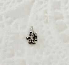 GARDEN GNOME  Dark Silver Floating Charm for Memory Lockets