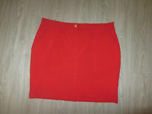 NWT NEW J. Lindeberg Red Womens Golf Skirt Lined Skort Large L Golfing Designer