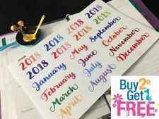 PP383B -- Monthly Header Icons Life Planner Stickers for Erin Condren (20pcs)