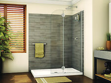 "FLEURCO 39"" x 75"" EVOLUTION MONACO 3/8"" GLASS FRAMELESS ROUND SHOWER SHIELD DOOR"
