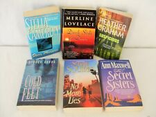 6 Book Lot Assorted Romantic Suspense Novels Paperbacks Good Used Condition