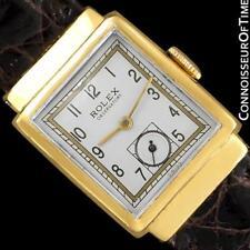 1930's ROLEX OBSERVATORY Vintage Mens Midsize 18K Gold Plated Watch - Restored
