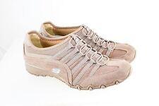 Skechers Slipon Elastic Laces Beige Leather Fabric Size 9.5 US 39.5 EU 22019