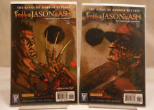 Freddy vs. Jason vs. Ash The Nightmare Warriors #5 & #6 Connecting Covers VF+/NM
