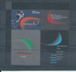 Kyrgyzstan stamps. 2002 Winter Olympics minisheet MNH (M914)