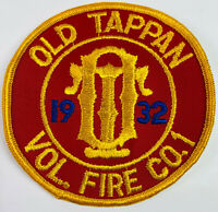 Old Tappan Volunteer Fire Company 1 Bergen County New Jersey Patch (F2-D)