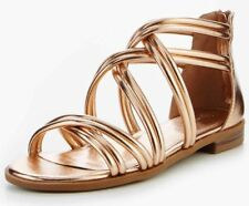 V by Very Honey Strappy Sandals- Rose Gold UK 3 EU 36 JS086 HH 05