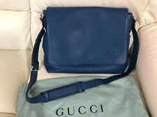 GUCCI BLUE MESSENGER LEATHER BAG BRAND NEW RRP £1260