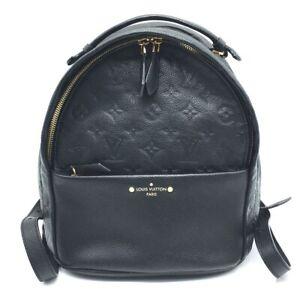 LOUIS VUITTON M44016 Monogram Empreinte Sorbonne Backpack-Bag Black