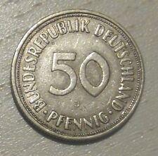 BRD, 50 Pfennig, 1950 J, Bundesrepublik Deutschland. Original Münze!