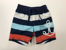 JANIE AND JACK Sailing the Seas Rope Anchor Swim Trunks Shorts Size 3-6 Months