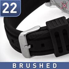 PILOT UHRENBAND Marken ARMBAND KAUTSCHUK | 22 - schwarz- gebürstete Dornschließe