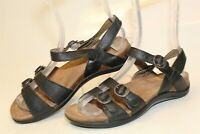 Dansko Womens 36 5.5 6 Black Leather Ankle Strap Sandal Comfort Shoes 1505020200