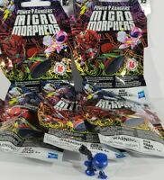 Mighty Power Rangers Micro Morphers Series 1 Lot Of 5 Blind Bags & Blue Ranger -