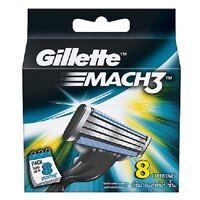 Gillette Mach 3 Mach3 | Pack Of 8 Cartridges Shaving Blades For Razor | Genuine