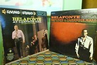 Harry Belafonte At Carnegie Hall & Returns To Carnegie Hall 4 LPs Living Stereo