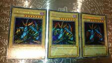 Set of 3 Yu-Gi-Oh Tri-Horned Dragon Asian Secret Rare 1st LOB-000 EX KONAMI
