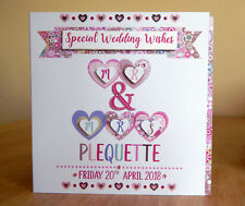 Wedding card personalised special WEDDING heart card special Couple Mr and Mrs