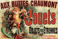 Aux Buttes Chaumont Jouets Jules Cheret Art Print Poster 12x18 inch