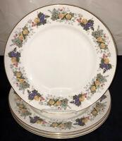 "5 Royal Doulton China* RAVENNA*FRUITS* 10 3/4"" DINNER PLATES* #4977*"