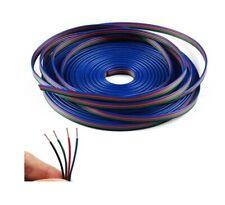 1M Cable Alargador Para Tiras De LED RGB Luz Tira Control Conector 4 Perno