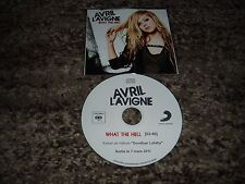 "Avril lavigne very rare cd single promo france ""what the hell"""