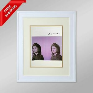 Andy Warhol -  Jacqueline Kennedy, Original Hand Signed Print with COA