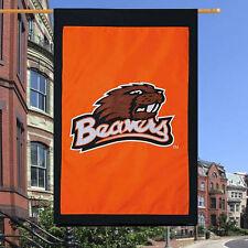 Oregon State BEAVERS- 28'' x 44''- Applique Banner Flag- Orange Background- NEW