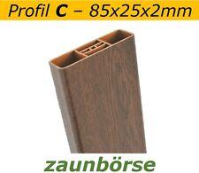 """Musterstück - Zaunlatte C (85x25x2mm) """"nußbaum"""" Profiware Gartenzaun Staketen"""
