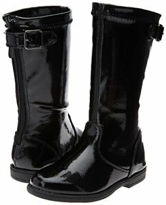 Boots Girls Black Patent Heart Treat Kenneth Cole NEW Little Girls Size 9