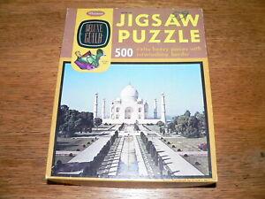 "Vintage Whitman Deluxe Guild 500 Pc Jigsaw Puzzle #4615 ""Taj Mahal""~Complete"