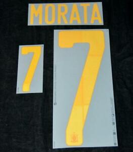 Official Spain Morata 7 euro 2020 Football Shirt Name/Number Set Home