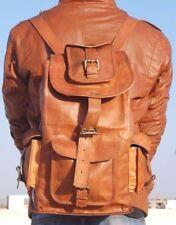 NEW Real genuine Leather Mens Backpack Satchel Brown Vintage Bag laptop Rucksack