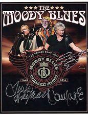 THE MOODY BLUES AUTOGRAPHED 2014 TOUR PHOTO HAYWARD LODGE EDGE HAND SIGNED w/COA