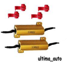 2 x 12V LED LOAD IN-LINE RESISTORS 50W 6 OHM FOR LED REAR TAIL LIGHTS INDICATORS