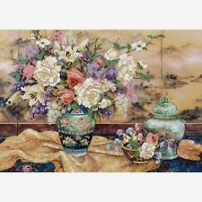 """Dimensions Gold Collection Crewel Embroidery Kit Oriental Splendor 14"""" X 20"""" NEW"""