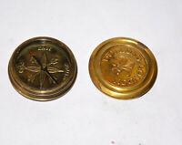 Antique vintage brass compass maritime marine dollond london poem compass gift