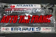 Atlanta Braves Metal License Plate Tag Frame NEW Ripped Plastic