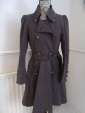 AMAZING GREY LABEL LAB MILITARY STEAMPUNK LAND ARMY COAT SIZE 10