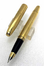 Gold Plated Sheaffer Imperial Touchdown Fountain Pen, Conical F Nib