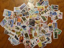 Lot de 100 timbres FRANCE + MONDE oblitérés - (ENVOI GRATUIT)