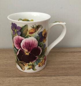 PANSIES Fine Bone China Flower Mug by Kingsbury Staffordshire Tableware VGC